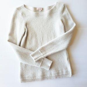 Benedetta B. Wool Cashmere Sweater Cream Gray